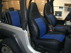 Stupendous Jeep Wrangler Tj Sahara 1997 2002 Black Blue Iggee S Leather Gamerscity Chair Design For Home Gamerscityorg