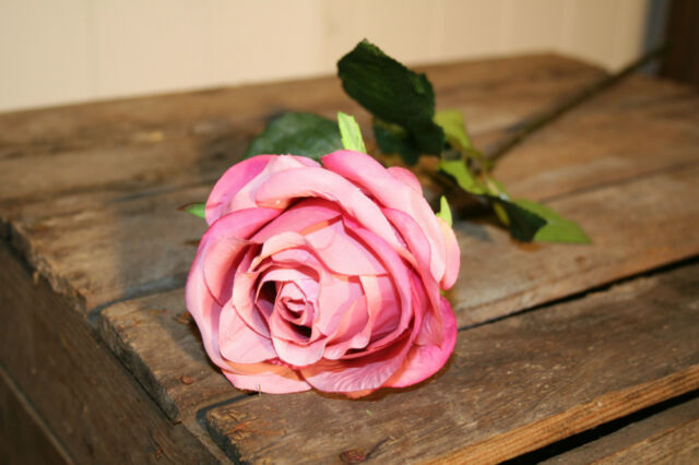 Stunning Faux Silk Pink Roses, Individual Artificial Luxury Rose Flowers