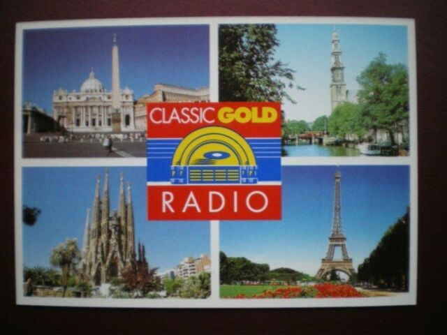 POSTCARD ADVERT CLASSIC GOLD RADIO