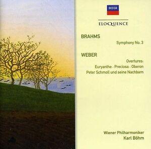 BRAHMS-SYMPHONY-NO-3-WEBER-OVERTURES-NEW-CD