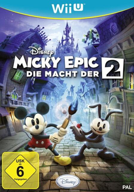 Disney Micky Epic: Die Macht der 2 (Nintendo Wii U, 2013, DVD-Box)