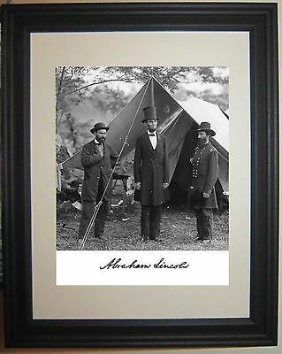 President Abraham Lincoln Autograph Civil War Framed 8 x 10 Photo Picture #w1