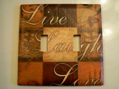 LIVE LAUGH LOVE CUSTOM LIGHT SWITCH PLATE COVER
