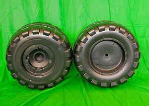 Peg-Perego-Gaucho-John-Deere-Off-Road-4x4-Rear-Wheel-Set-2-Tires