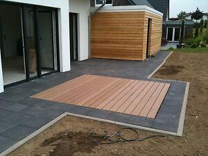 Terrassendielen  WPC Terrassendielen Set 36 qm Komplett Bausatz Diele Dielen Holz ...
