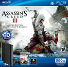 Sony Playstation 3 Super Slim Assassin's Creed III Bundle 500GB Charcoal Black Console