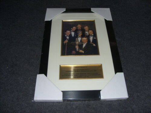 THE MAGNIFIENT 7 SNOOKERS WORLD CHAMPIONS 1969 1989 Signed Montage AFTAL