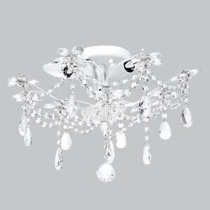image is loading flush mount chandelier jewels white bedroom bathroom light bathroom lighting chandelier