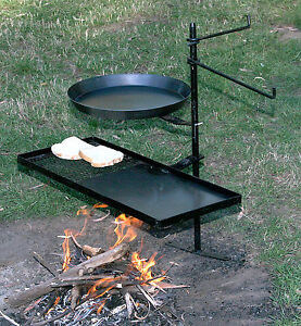 Aussie Made campfire firepit swing over away BBQ Stand ...