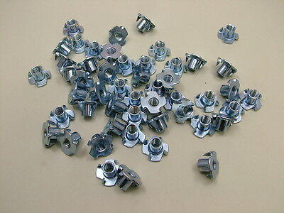 T nuts tee nuts pack of 50 M6 thread bright zinc finish