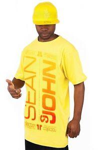 New sean john men vertical design graphic print t shirt size m for Sean john t shirts for mens