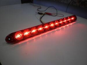 TecNiq Red HI Mount Center Brake Turn ID Bar 11 LED Light Trailer