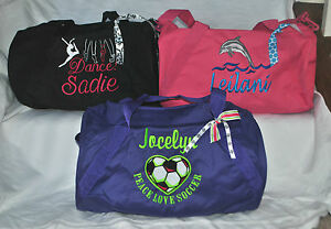 Image Is Loading Custom Embroidered Personalized Sports Duffle Gym Dance Cheer