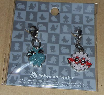 Japanese Pokemon Center Limited Metal Charm Pineco Forretress Set