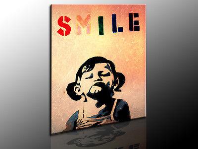 Fotoleinwand24 Banksy Graffiti Leinwandbild Wandbild Kunstdrucke Posterdruck 723