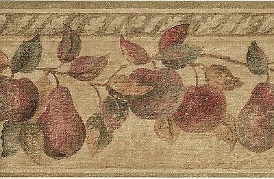 ~1 Roll Wallpaper Border~Country Apples and Pears Decorative 5 yards Vinyl