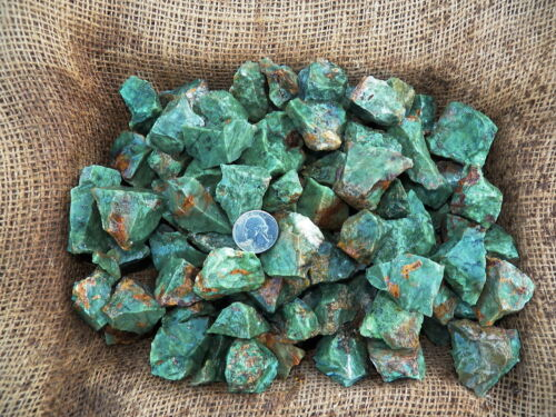 2000 Carat Lots of Chrysoprase Rough - Plus a FREE Faceted Gemstone