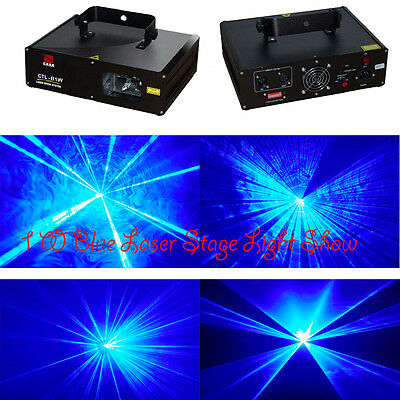 1000mW/1W 445nm Blue home Disco DJ  Laser Stage Lighting show projector