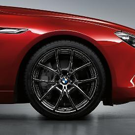 BMW-V-Spoke-Style-356-Liquid-Black-20-034-Set-of-4-Rims-528-535-550-640-650-New-OEM