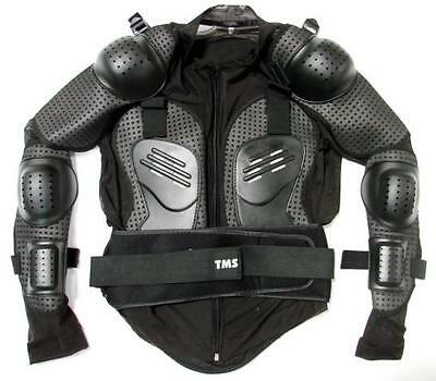 Motorcycle Full Body Armor Shirt Jacket Motocross Back Shoulder Protector Gear