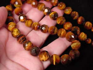 (v315) Red tiger eye Africa Beads GEM bead Necklace JEWELRY beaded faceted