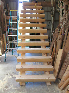 Half Log Straight Run Staircase Stairway 150 Per Stair