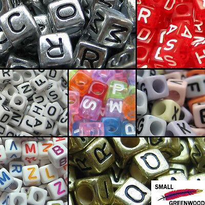 (U Pick)500 Pcs. 6 x 6mm Mixed & Individual Alphabet Letter Cube Acrylic Beads