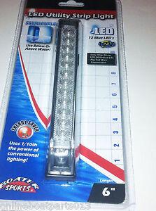 BLUE-UNDERWATER-LED-BOAT-LIGHT-6-INCH-12-LEDS-UTILITY-STRIP-LIGHT