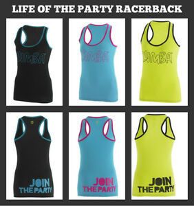 new zumba life of the party racerback zumba t shirt zumba. Black Bedroom Furniture Sets. Home Design Ideas