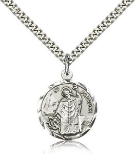 Sterling-Silver-St-Patrick-Medal-Saint-Protector-Patro