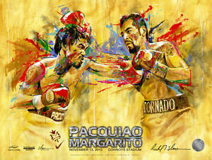 MANNY PACQUIAO vs ANTONIO MARGARITO FIGHT POSTER BY RICHARD T. SLONE 18x24