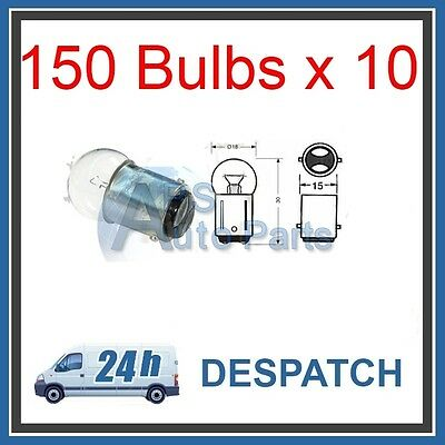 NEW SIDELIGHT AUTO BULBS 150 24V 5W BA15D SBC 10 PACK CAR VAN LORRY TRAILER