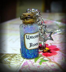 Handmade-Harry-Potter-Inspired-Unicorn-Blood-Sparkly-Glass-Bottle-Necklace
