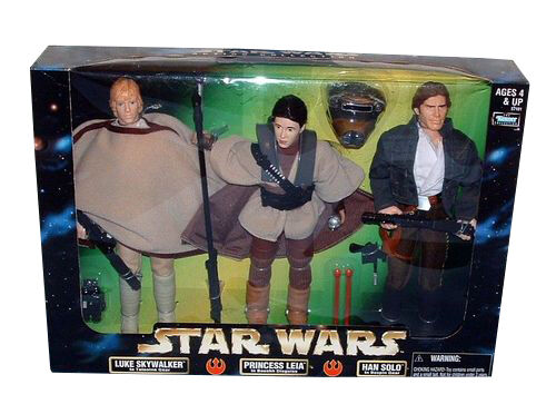Star Wars Action Collection, Luke Skywalker, Princess Leia, Han Solo