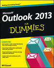 Outlook 2013 For Dummies by Bill Dyszel (Paperback, 2013)