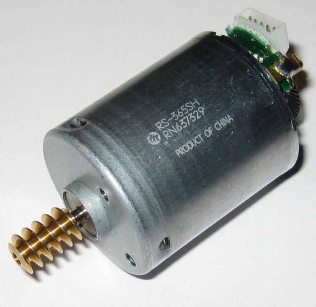 Mabuchi RS-365SH Dual Shaft Motor with Brass Worm Gear + Optical Encoder - 24 V
