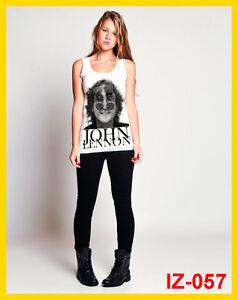 indeez-IZ-057-JOHN-LENNON-THE-BEATLES-Tank-Top-Singlet-t-shirt-White-M