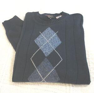 Cotton Crew Sweater Mens Dockers Olive 25
