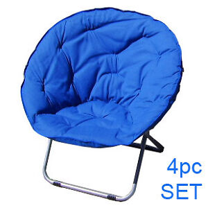 4-PC-SET-FOLDING-BLUE-PAPASAN-DISH-MOON-SPHERE-CHAIR