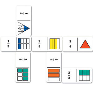 FRACTION-DOMINOES-maths-games-age-6yrs-BNIB-36-dominoes-and-activity-guide