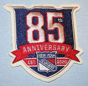 New York NY Rangers 85th Anniversary 1926 Jersey Cloth Patch NHL Hockey New