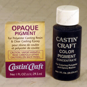 Castin 39 craft opaque pigment colorant for polyester or for Castin craft resin dye