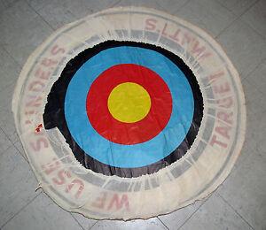 ViNtAgE-Archery-034-We-Use-Saunders-034-Bullseye-Target-Mat-39-034-Old-Stock-Man-Cave