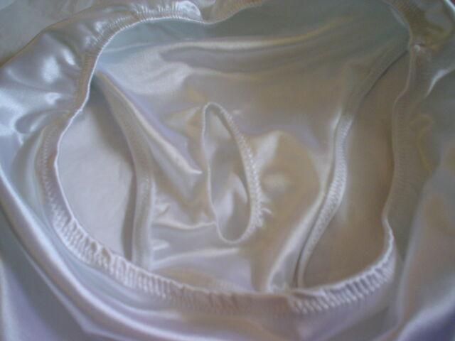 Mens Satin Full Back Brief Bikini Brief s m l or xl Pocket Panties USA