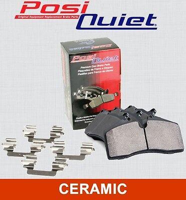 FRONT SET Posi Quiet Ceramic Brake Disc Pads (+ Hardware Kit) LOW DUST 105.11251