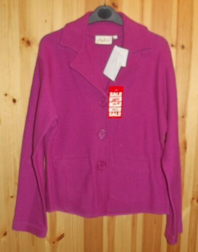Adini 100/% Wool Jacket revere collar long sleeves button front 2 front pockets