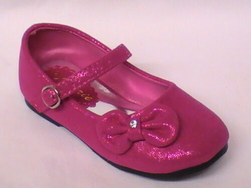 Girls Metallic Suede Shoes lil Bow carley20 TODDLER Pageant Party Dress Shoe