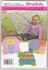 Simplicity-Pattern-1822-Rag-Quilts-Butterfly-Snail-and-Turtle-Quilts