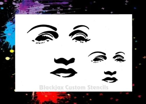 Sexy Woman Face Set 03 Airbrush Stencil,Template
