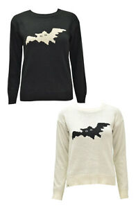 LADIES-WOMENS-FULL-SLEEVE-CABLE-KNITTED-BAT-PRINTED-JUMPER-DRESS-TOP-CARDIGAN